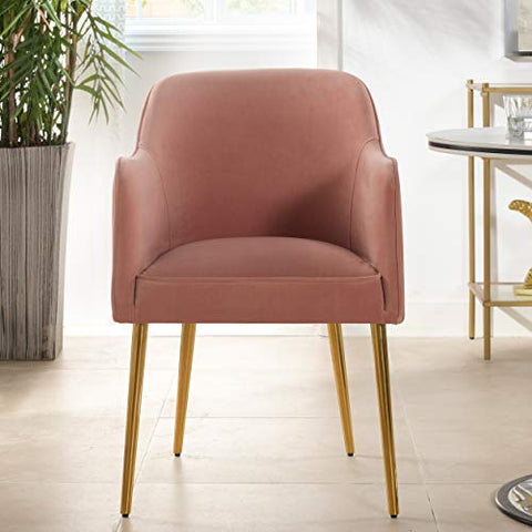Jennifer Taylor Home Lily Mid-Century Modern Accent Desk Chair, Blush Pink