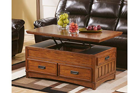 Ashley Furniture Cross Island Cocktail Table, Brown