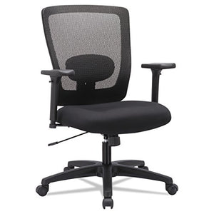 Alera ALE Envy Series Mesh Mid-Back Swivel/Tilt Chair, Black