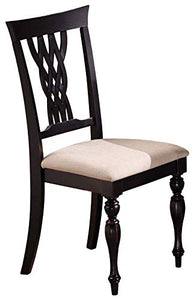 Hillsdale Furniture Embassy Dining Chairs (Set of 2) Standard Rubbed Black