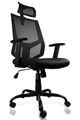 Ergonomic Office Chair Adjustable Headrest Mesh Office Chair Office Desk Chair Computer Task Chair