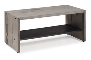 "42"" Solid Rustic Reclaimed Wood Entry Bench - Gray"