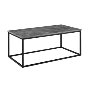 "42"" Mixed Material Coffee Table - Dark Concrete"