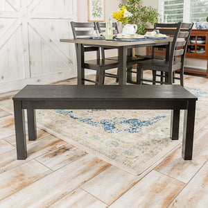 "48"" Homestead Simple Wood Dining Bench - Black"
