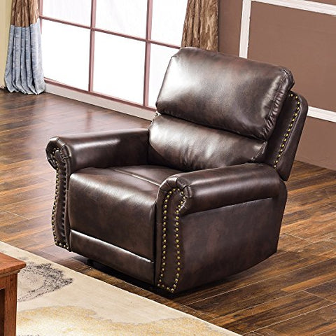 Harper & Bright Designs Sectional Recliner Sofa Set (Brown) (Chair)