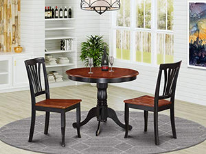 3 PC Kitchen nook Dining set-small Kitchen Table and 2 Kitchen Chairs
