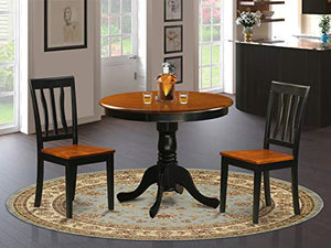 Dining set - 3 Pcs with 2 Wood Chairs