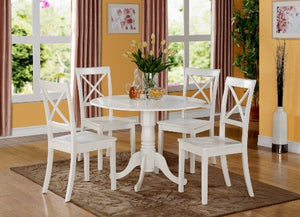5 PC small Kitchen Table set-small Table and 4 dinette Chairs