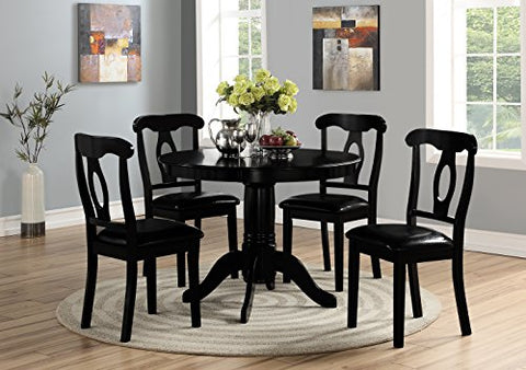 Angel Line Lindsey Dining Set, Black