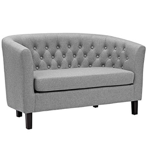 Prospect Upholstered Fabric Loveseat - Light Gray
