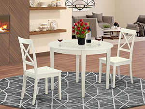 3 Pc Dining room set for 2-Small Kitchen Table and 2 Kitchen Chairs