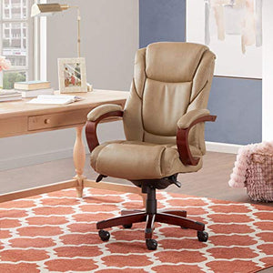 La-Z-Boy Miramar Executive Bonded Leather Office Chair - Taupe