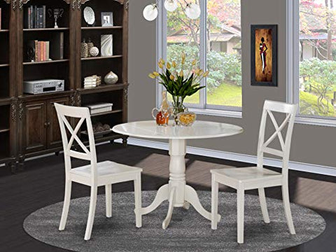 3 Pc small Kitchen Table-Kitchen Table and 2 Dining Chairs