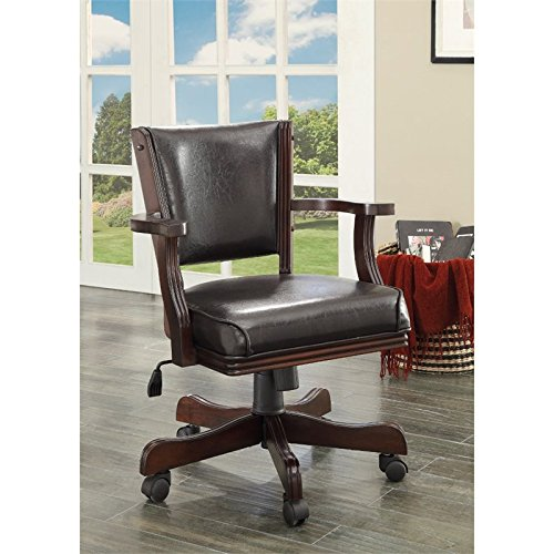 HOMES: Inside + Out Out Out Thatcher Contemporary Height Adjustable Game Chair, Cherry
