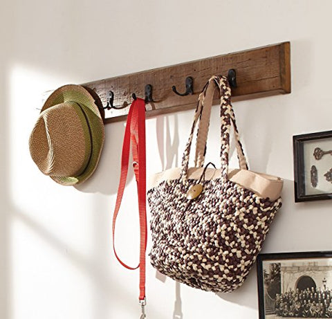 Renew Reclaimed Wood Wall Mounted Coat Hook, Natural