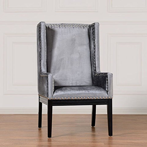 TOV Furniture Tribeca Grey Velvet Chair TOV-TRI-GV