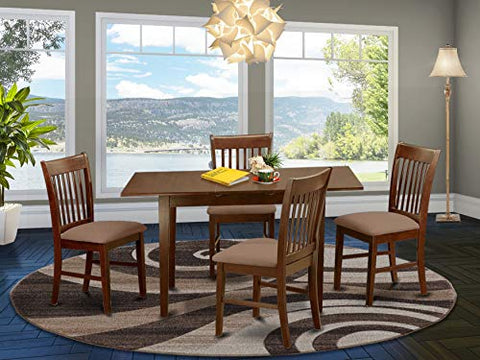 5 Pc Kitchen nook Dining set - Table with a 12in leaf and 4 Dining Chairs