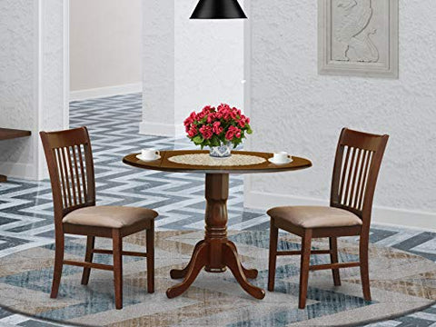 3 Pc small Kitchen Table set-round Kitchen Table and 2 Chairs
