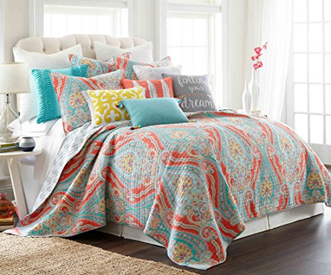 Levtex-home-Greenwich-Multi-Quilt-Set,-Full/Queen,-Coral,Teal,Blue