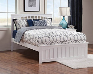 Mission Queen Bed with MFB in Natural