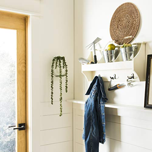 Safavieh  Home Collection Darcey White Hanging Storage Wall Coat Rack,
