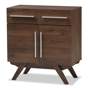 Baxton Studio Wooden Sideboard in Walnut Brown Finish