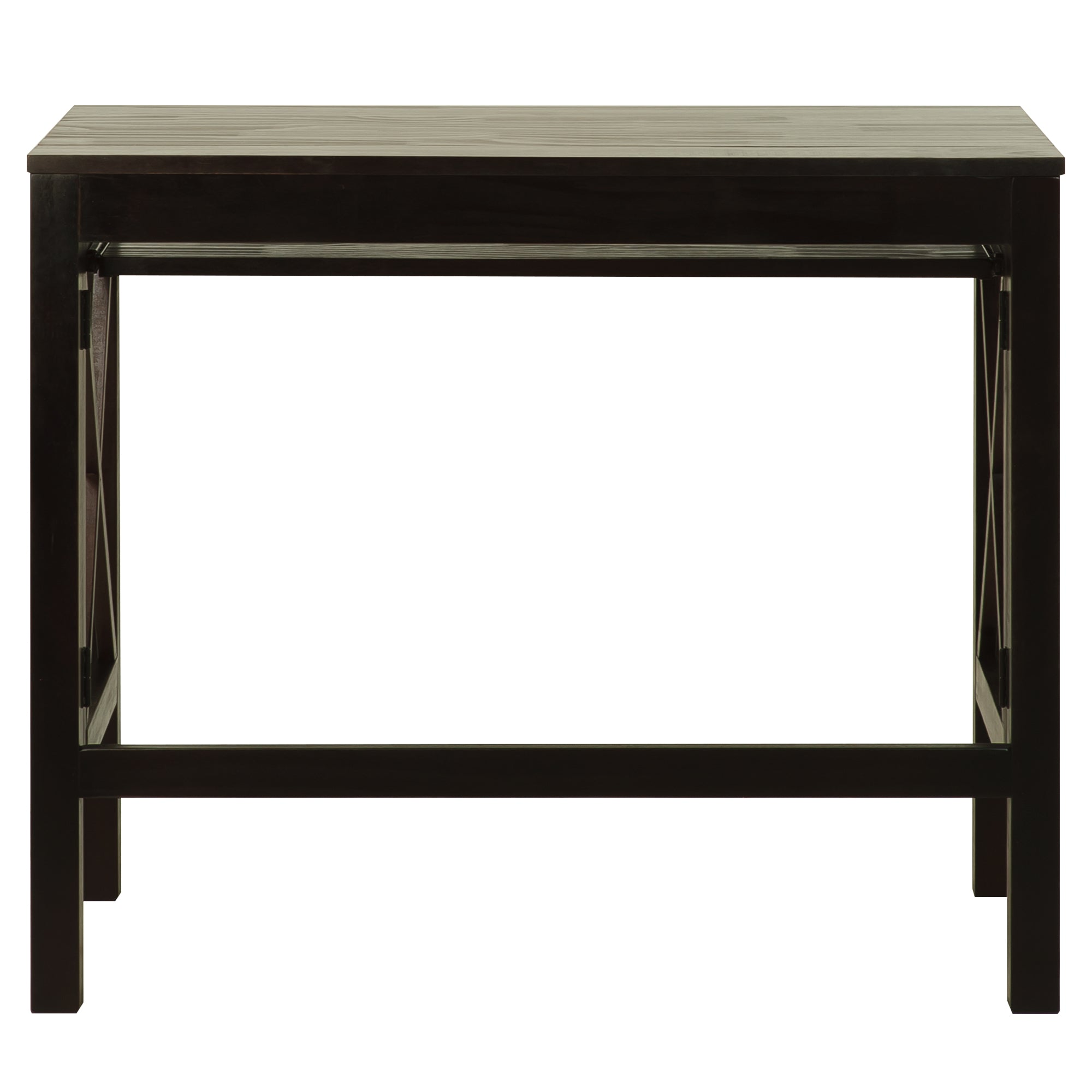 Montego Folding Desk with Pull-Out-Espresso