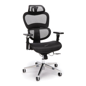 OFM Core Collection Ergo Office Chair Featuring Mesh Back And Seat With Head Rest, In Black