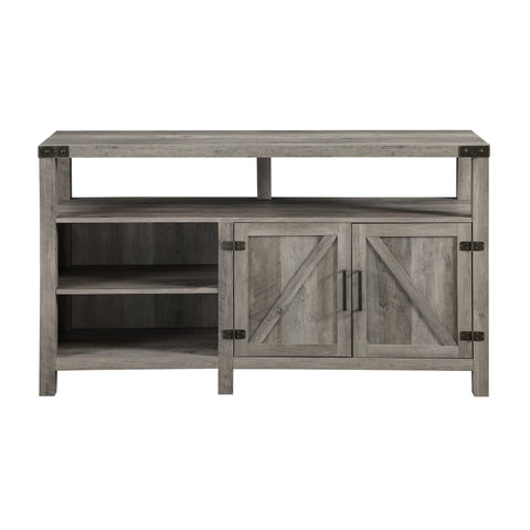 "58"" Barndoor Highboy Console - Grey Wash"