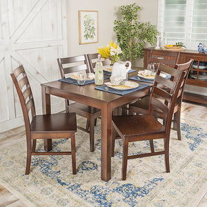 Homestead 7 Piece Wood Dining Set - Walnut