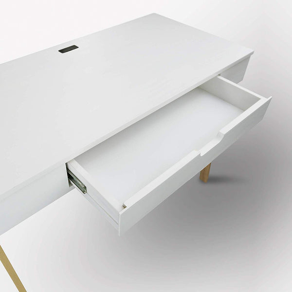 Neorustic Smart Desk with USB Ports, White