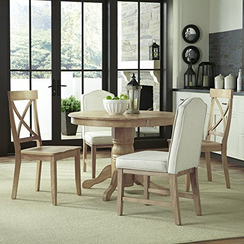 Classic White Washed 5-Piece Dining Set by Homes Styles