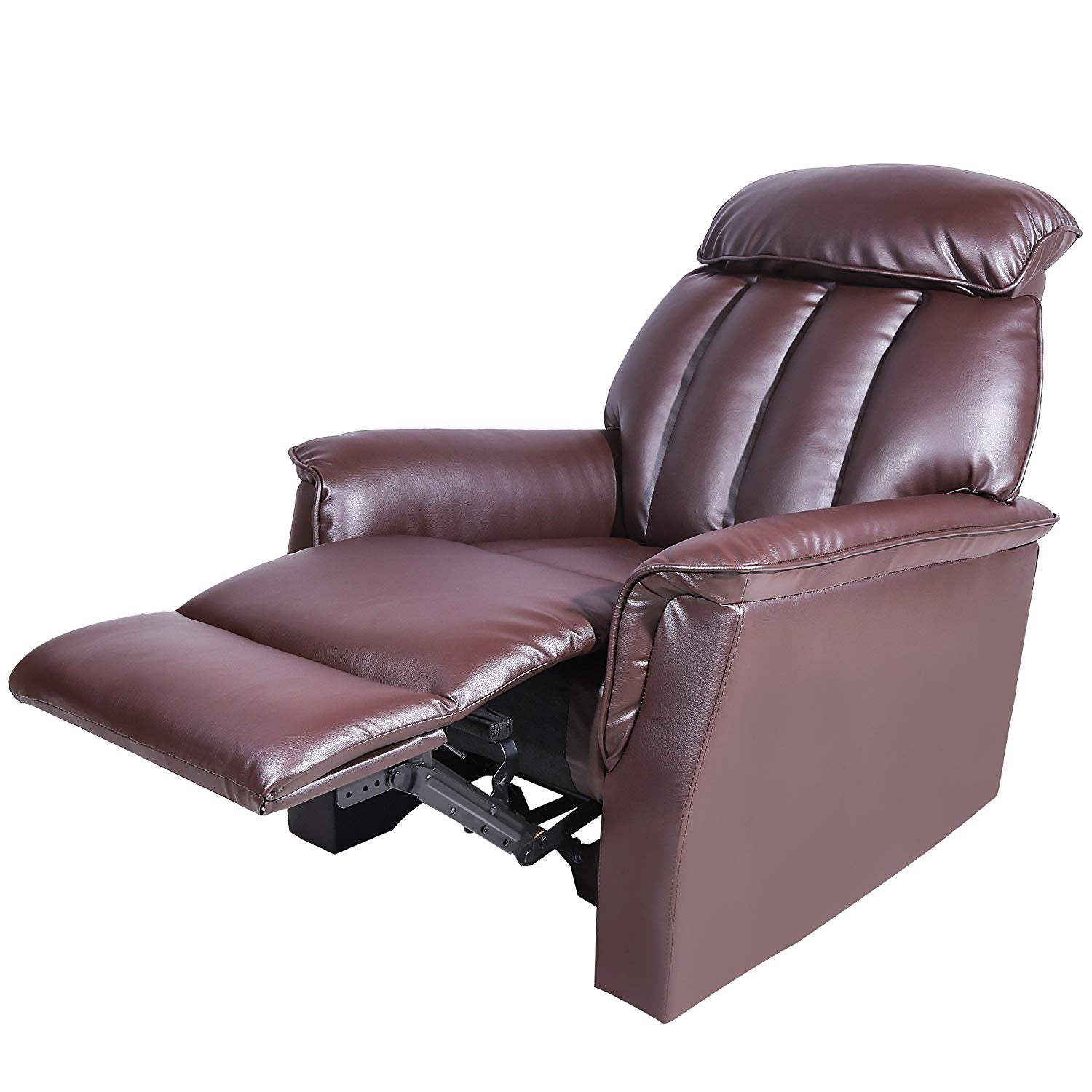 Harper&Bright designs Ergonomic Adjustable Recliner Sofa Chair with PU Leather (Brown)