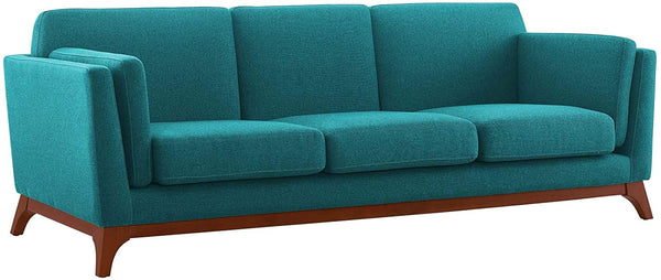 Modway Chance Upholstered Fabric Sofa - Teal