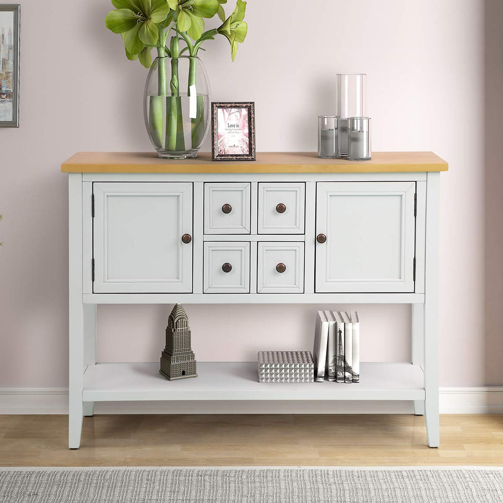 Zsq Buffet Table Cambridge Series Sideboard Table With Bottom Shelf