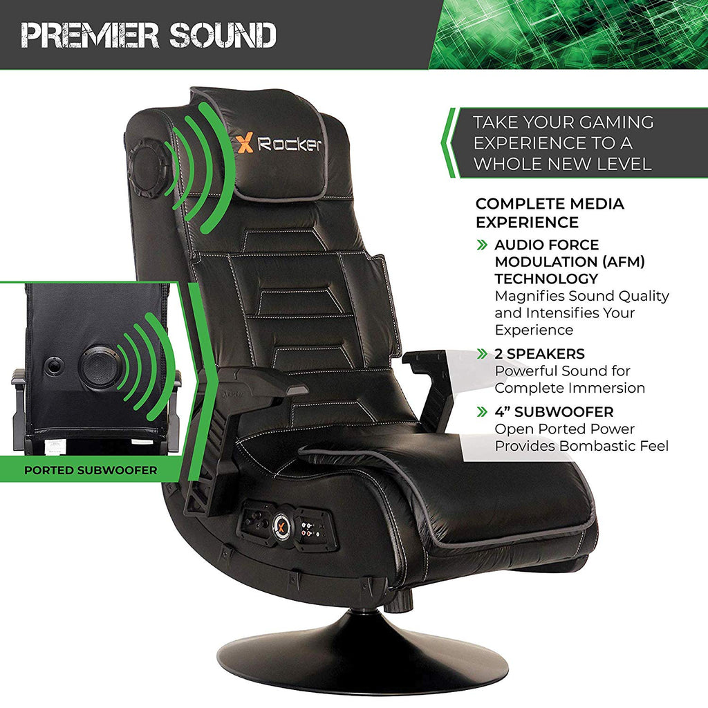 Groovy X Rocker 51396 Pro Series Pedestal 2 1 Video Gaming Chair Wireless Dailytribune Chair Design For Home Dailytribuneorg
