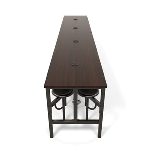 OFM Endure Series Model 9016 Standing Height 16 Seat Table, Walnut Top With Dark Vein Seats