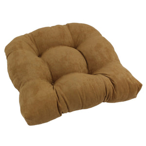 19-inch U-Shaped Micro Suede Tufted Dining Chair Cushion - Camel