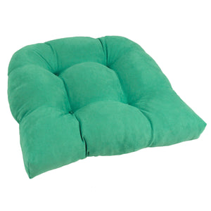 19-inch U-Shaped Micro Suede Tufted Dining Chair Cushion - Emerald