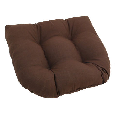 19-inch U-Shaped Twill Tufted Dining Chair Cushion  - Chocolate