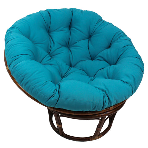 44-inch Solid Twill Papasan Cushion (Fits 42-inch Papasan Frame) - Aqua Blue