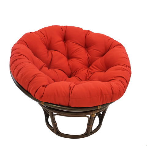 44-inch Solid Twill Papasan Cushion (Fits 42-inch Papasan Frame) - Ruby Red