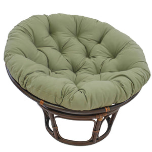 44-inch Solid Twill Papasan Cushion (Fits 42-inch Papasan Frame) - Sage