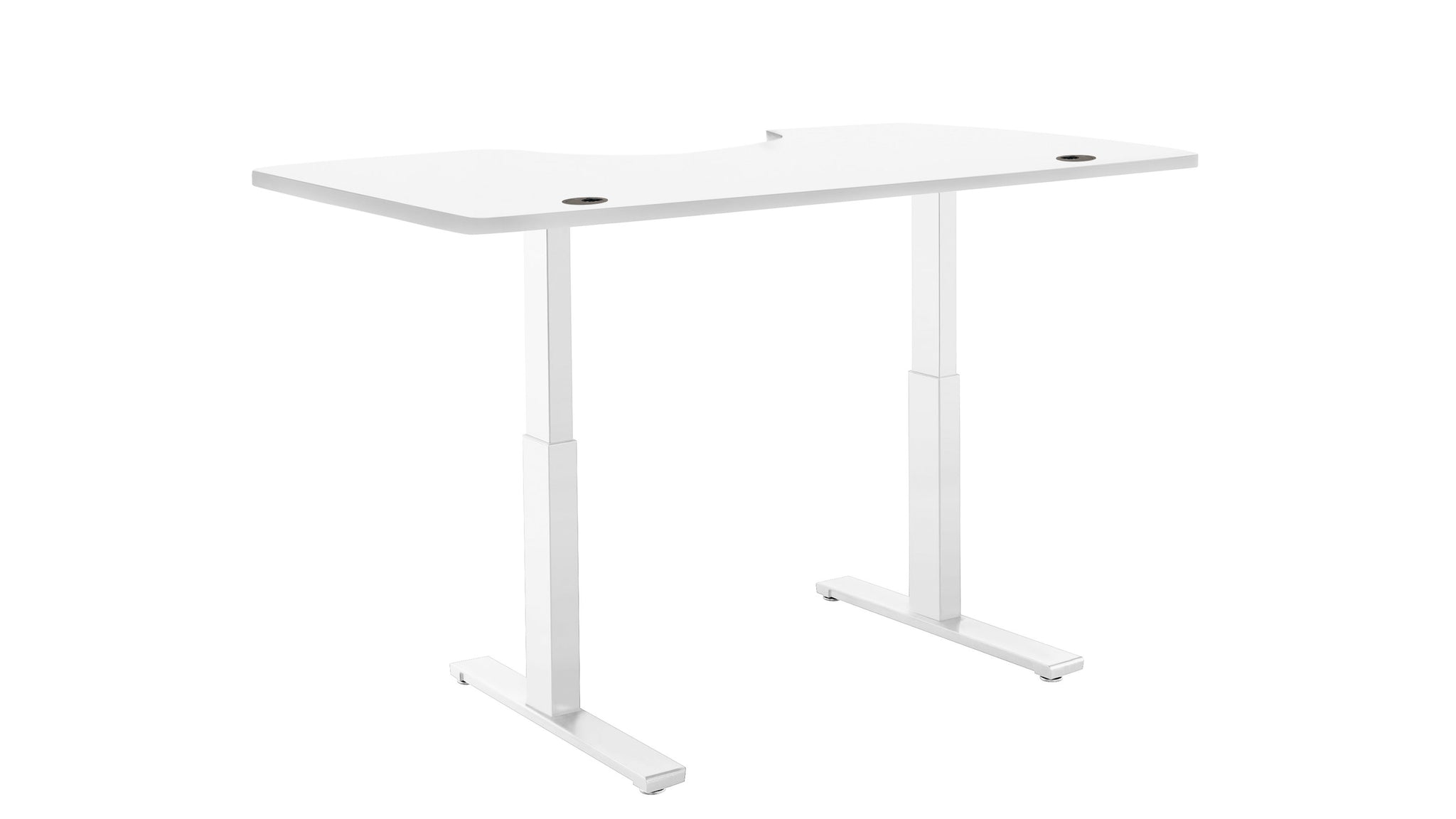 "ActiveDesk Standing Desk with Electric Adjustble Height 28 - 46 inches, White Frame - White Ergo Table Top size 53"" x 30"""