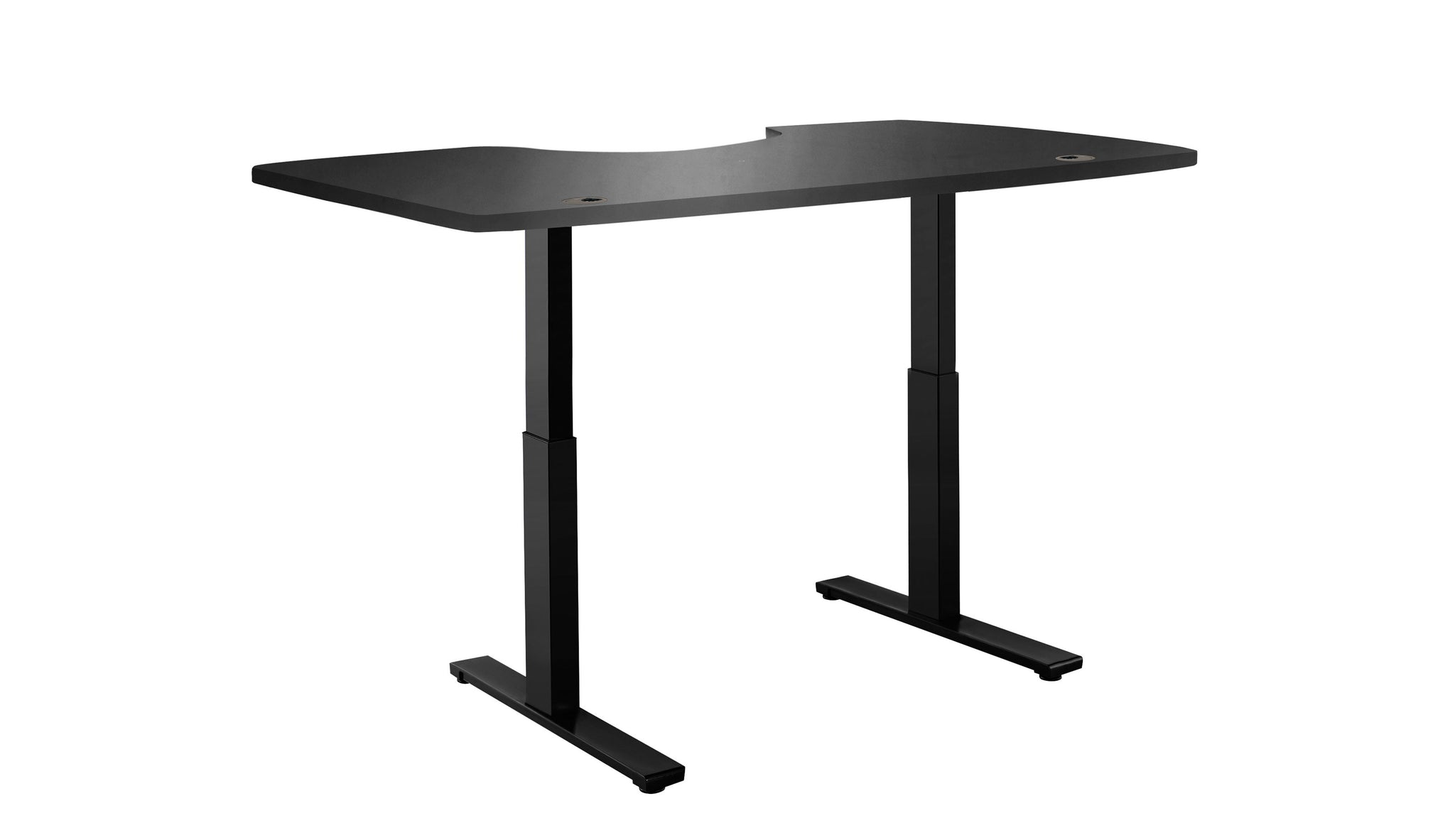 "ActiveDesk Standing Desk with Electric Adjustble Height 28 - 46 inches, Black Frame - Black Ergo Table Top size 53"" x 30"""