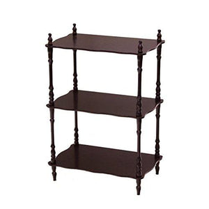 Frenchi Furniture Rectangular 3 Tier Shelf In Cherry Finish