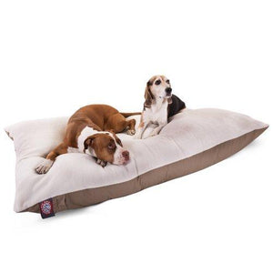 42X60 Khaki Rectangle Pet Dog Bed By Majestic Pet Products Extra Large