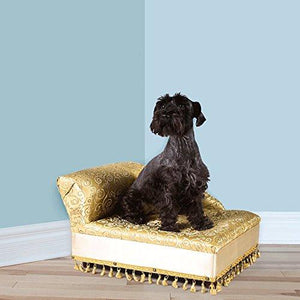 Mini Chaise Elegant Gold Pet Bed