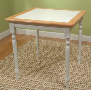 Tms Furniture 20330Wht Tile Top Dining Table, White