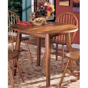 Cottage Style Hickory Stain Berringer Dining Room Drop Leaf Table